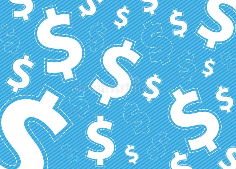 Dolary pieniądze tła projekta royalty ilustracja