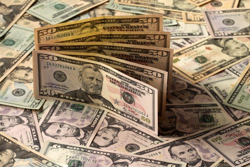 dolary pieniędzy my zdjęcie stock