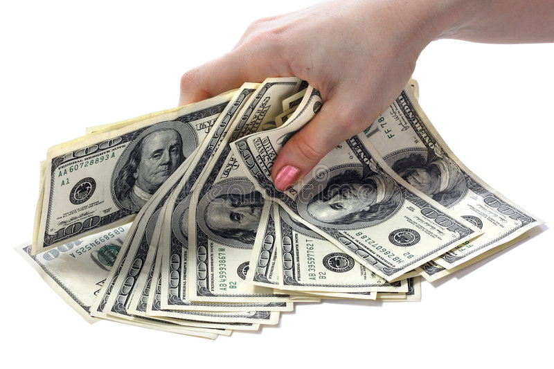 dolary rąk notatek. obrazy stock