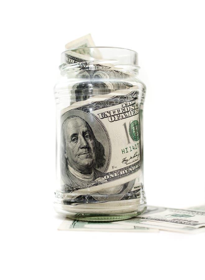 dolary słojów pieniędzy zdjęcie stock