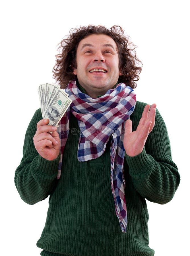 dolary szczęśliwych mężczyzna obrazy stock