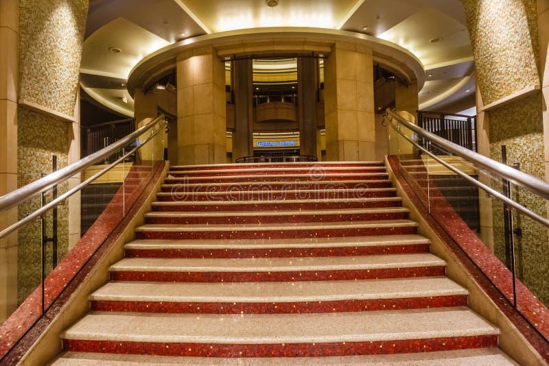 Dolby лестница театра стоковые изображения rf