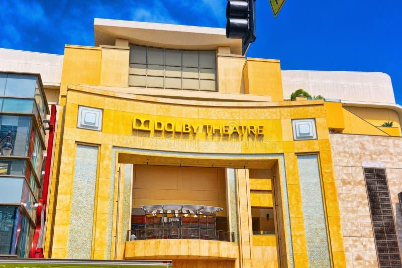 Dolby do teatro de Kodak onde o prêmio da Academia anual é apresentado fotografia de stock royalty free