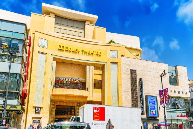 Dolby do teatro de Kodak onde o prêmio da Academia anual é apresentado imagens de stock