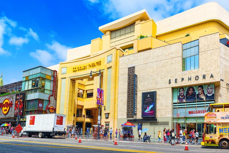 Dolby do teatro de Kodak onde o pr?mio da Academia anual ? apresentado fotos de stock
