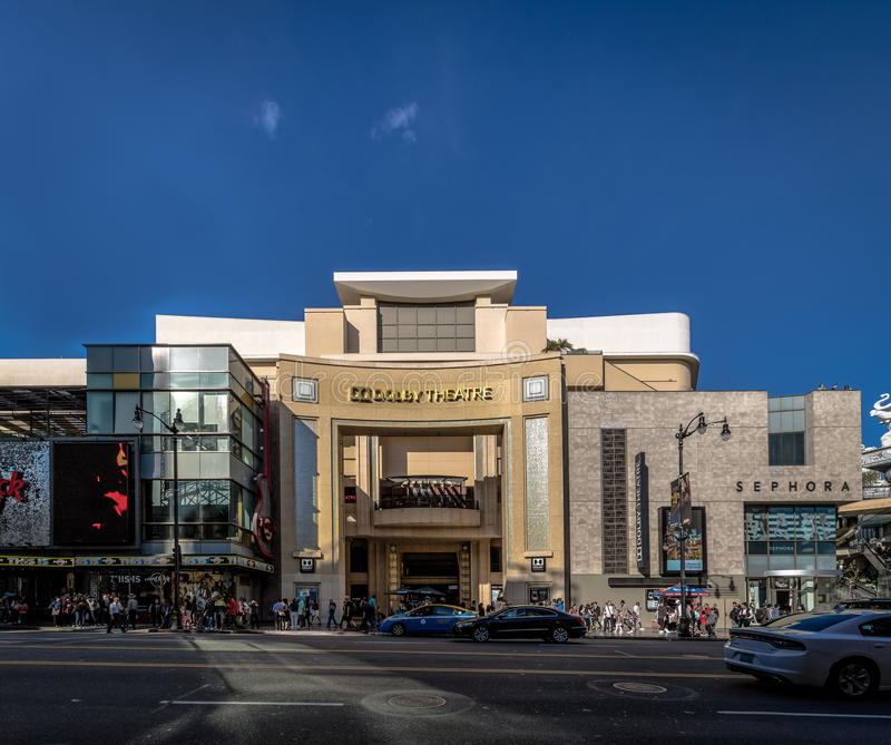 Dolby Theatre on Hollywood Boulevard - Los Angeles, California, USA stock image