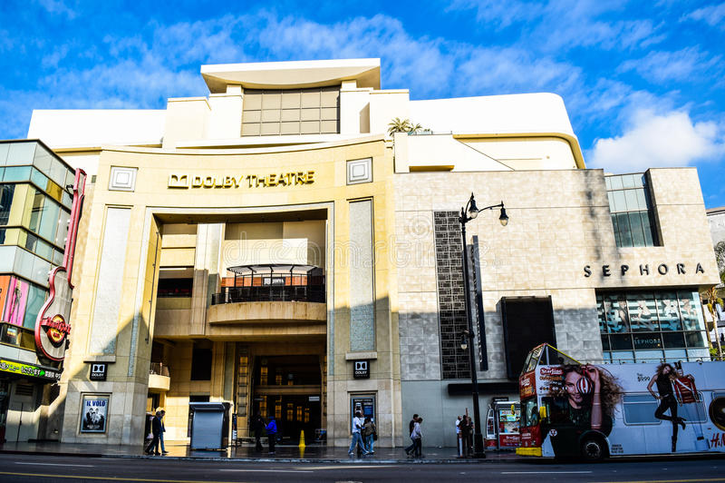 Dolby Theatre jest domem nagrody filmowa jak widziane w Los Angeles (aka kodaka Theatre) (aka Oscars) fotografia stock