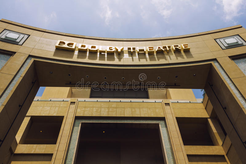 Dolby Theatre w Hollywood obraz stock