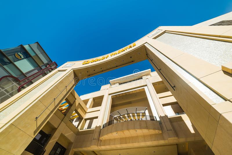Dolby Theatre w Hollywood bulwarze obraz royalty free