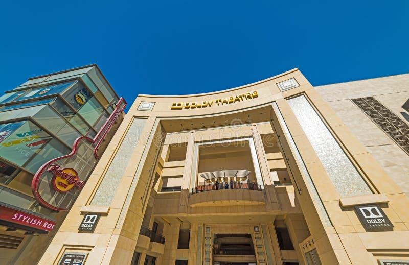 Dolby Theatre w Hollywood bulwarze zdjęcia stock
