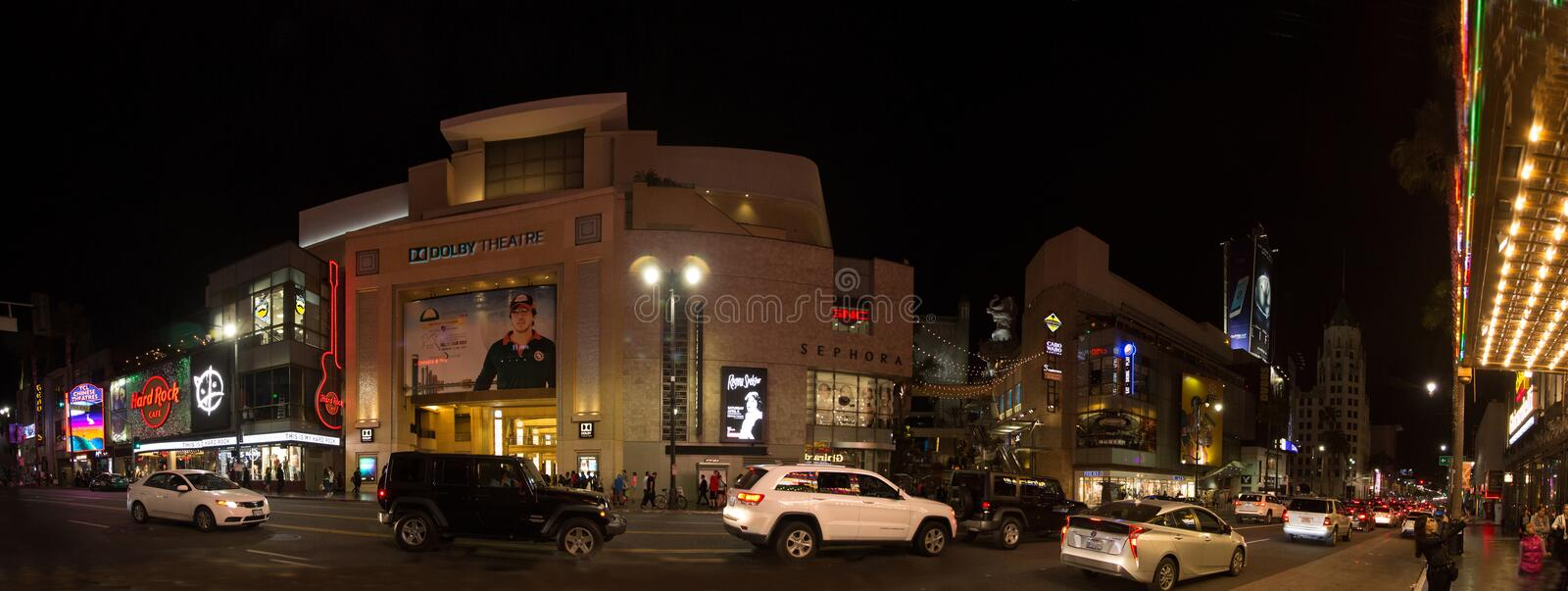 Dolbytheater auf Hollywood Boulevard stockbilder