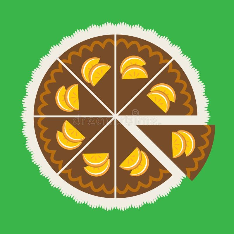 Dolce arancio del cioccolato illustrazione di stock