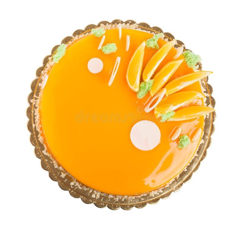 Dolce arancio lustrato delizioso immagini stock