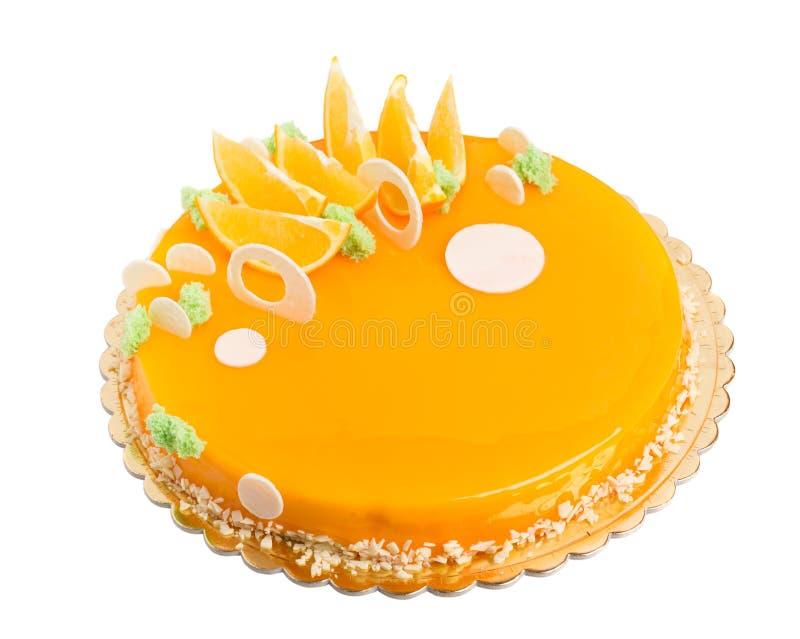Dolce arancio lustrato specchio delizioso immagine stock