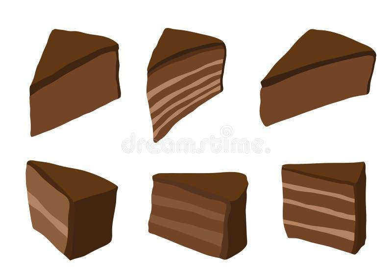 Dolce color cioccolato su fondo bianco illustrazione di stock