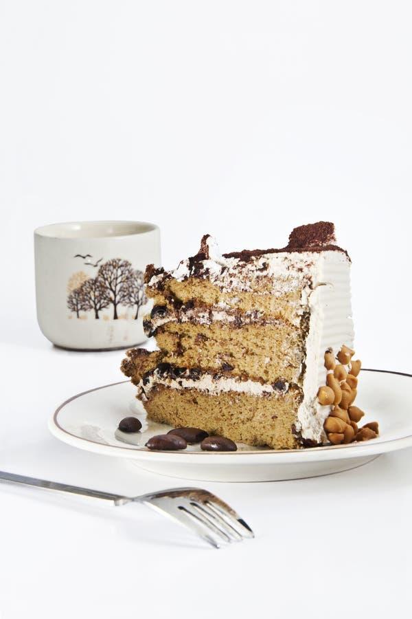 Dolce crema con caffè immagine stock