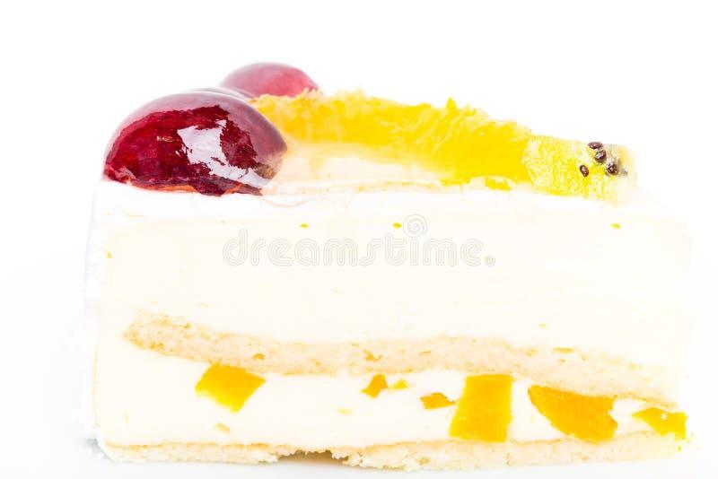 Dolce cremoso della mousse del yougurt con i frutti fotografie stock libere da diritti