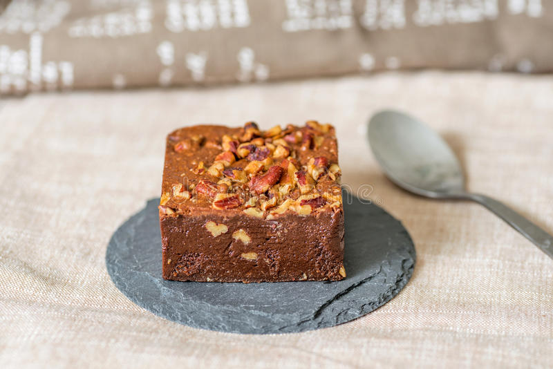 Dolce del brownie del cioccolato fotografia stock