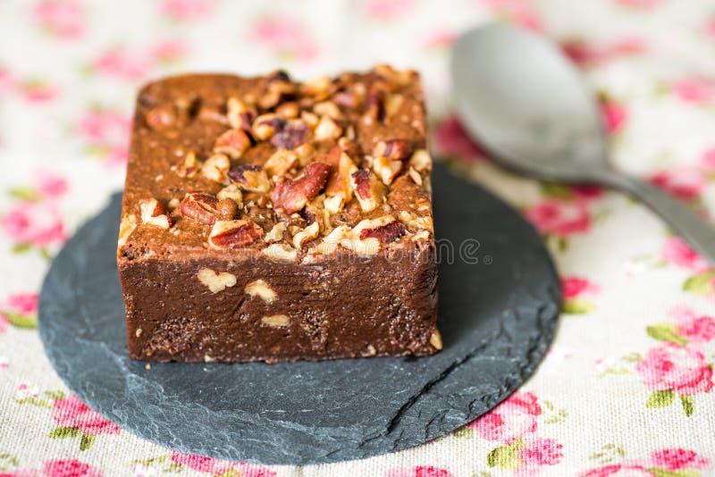 Dolce del brownie del cioccolato immagine stock libera da diritti