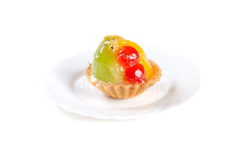 Dolce della gelatina di frutta isolato su fondo bianco fotografia stock