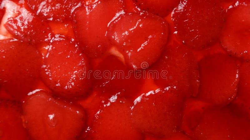 Dolce della gelatina della fragola Chiuda su struttura Concetto della confetteria fotografie stock