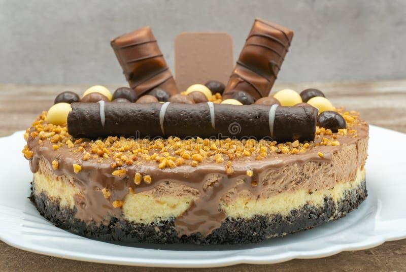 Dolce della mousse di cioccolato fotografia stock libera da diritti