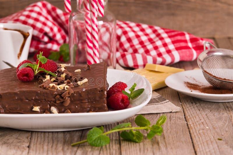Dolce di cioccolato immagine stock