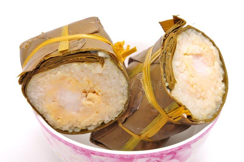 Dolce di riso appiccicoso cilindrico vietnamita immagini stock libere da diritti