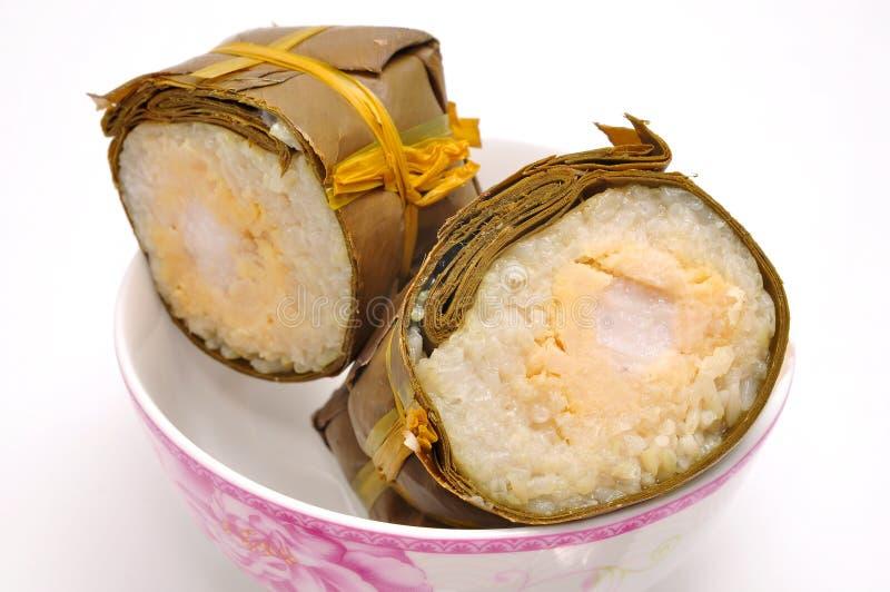 Dolce di riso appiccicoso cilindrico vietnamita fotografia stock libera da diritti