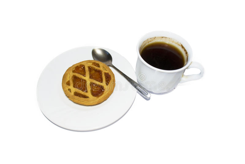 Download Dolce E Biscotti Su Un Piattino E Su Un Caffè Bianchi Fare In Un Briciolo Immagine Stock - Immagine di albicocca, background: 56890949
