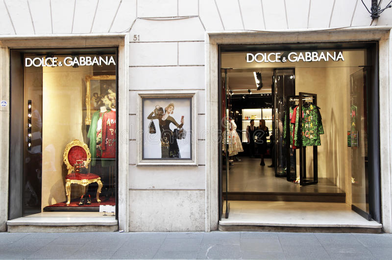 Dolce & Gabbana fashion store royalty free stock image