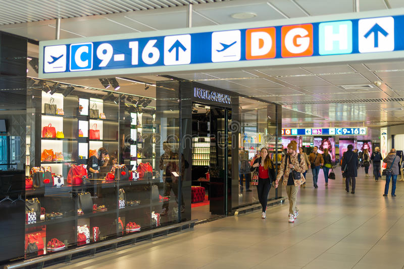 Dolce & Gabbana store at Fiumicino Airport in Rome stock photo