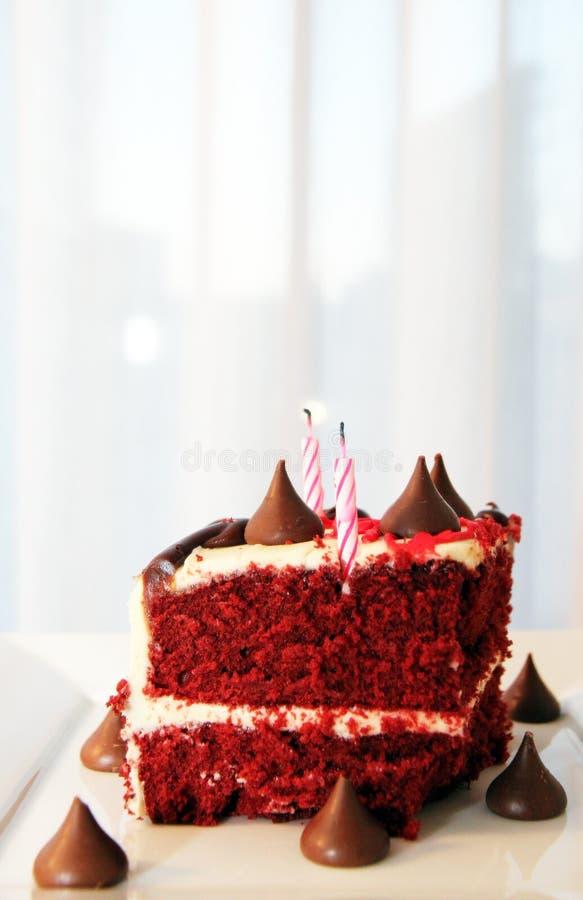 Dolce molto saporito e bello con le candele Compleanno immagini stock libere da diritti