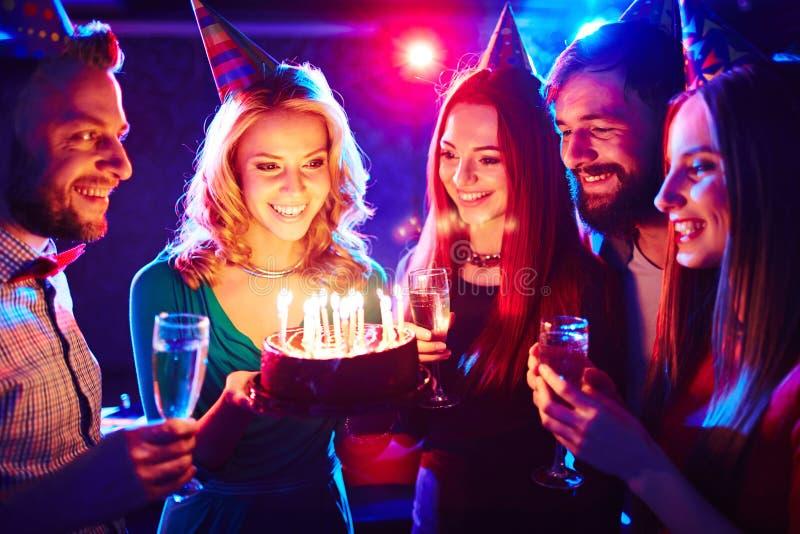 Dolce per il compleanno fotografie stock libere da diritti