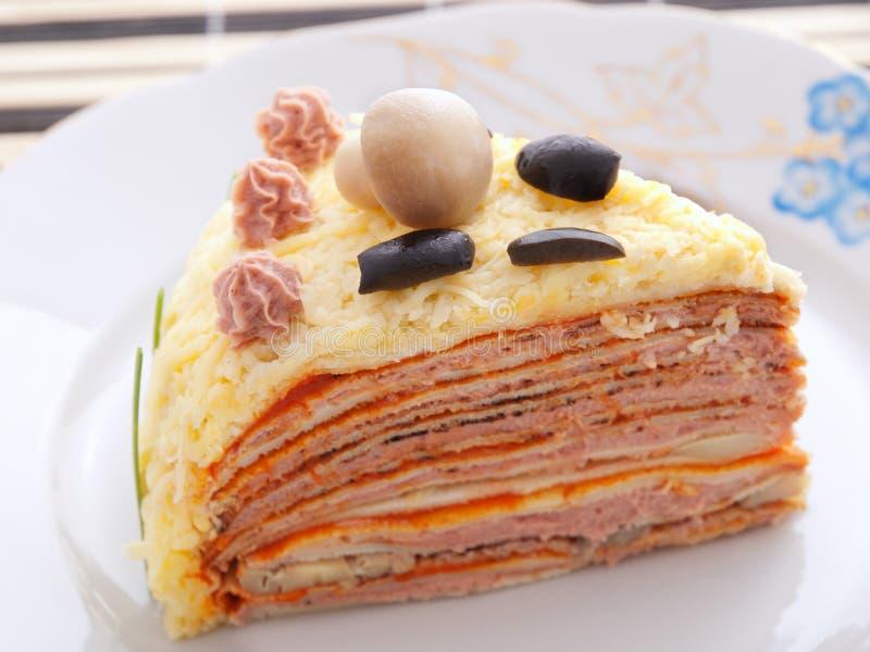 Dolce salato del pancake fotografia stock