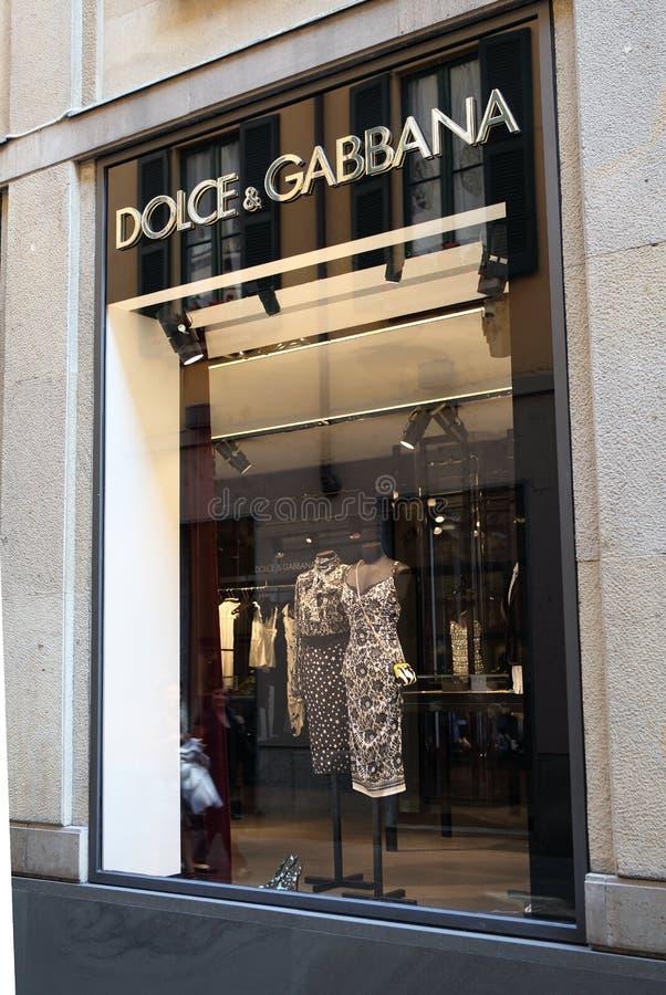 Dolce u. Gabbana Speicher lizenzfreie stockfotografie