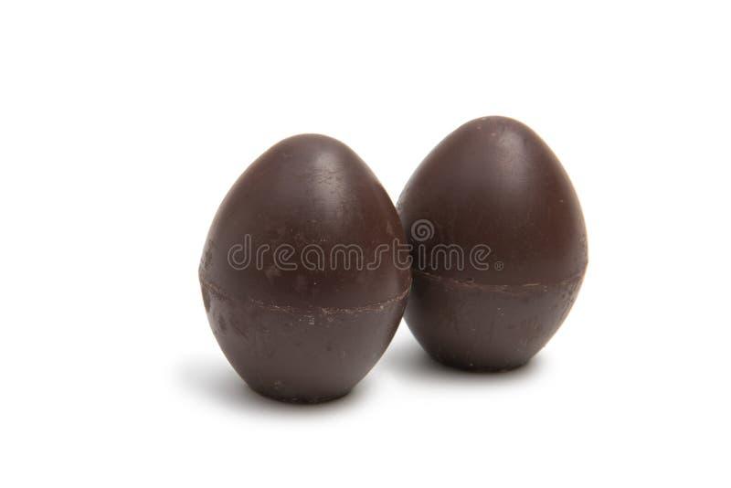 Dolci delle uova di caramelle del cioccolato isolati fotografia stock