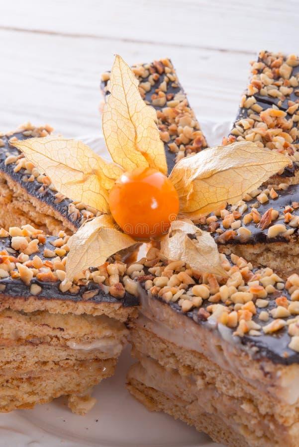 Dolci di miele con cioccolato fotografia stock