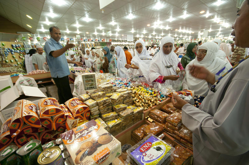 Dolci di vendita degli Arabi ai dolci fotografie stock libere da diritti