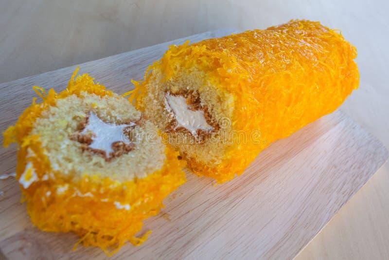 Dolciumi tailandesi del dolce fatti del tuorlo d'uovo fotografie stock