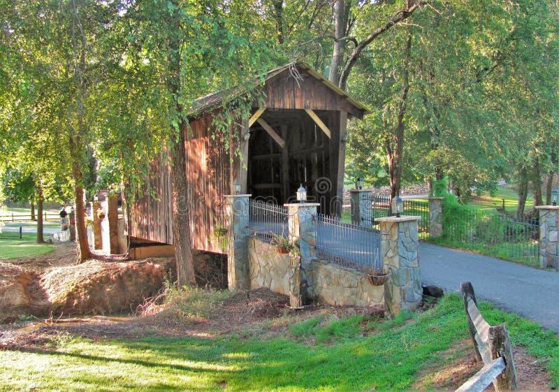 Dold bro på Cody Creek fotografering för bildbyråer