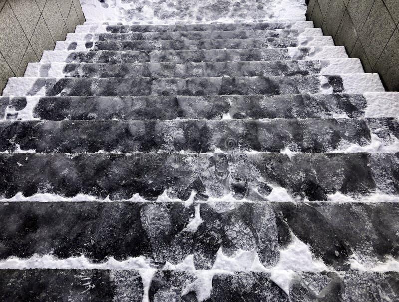 Dold is för hal trappuppgång arkivbild