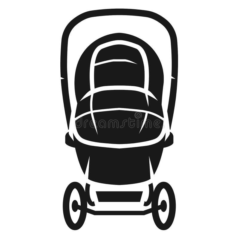 Dold symbol för främre sikt för sittvagn, enkel stil vektor illustrationer