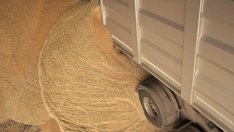 Dolewanie kukurudzy adra z ciężarówki zdjęcia royalty free
