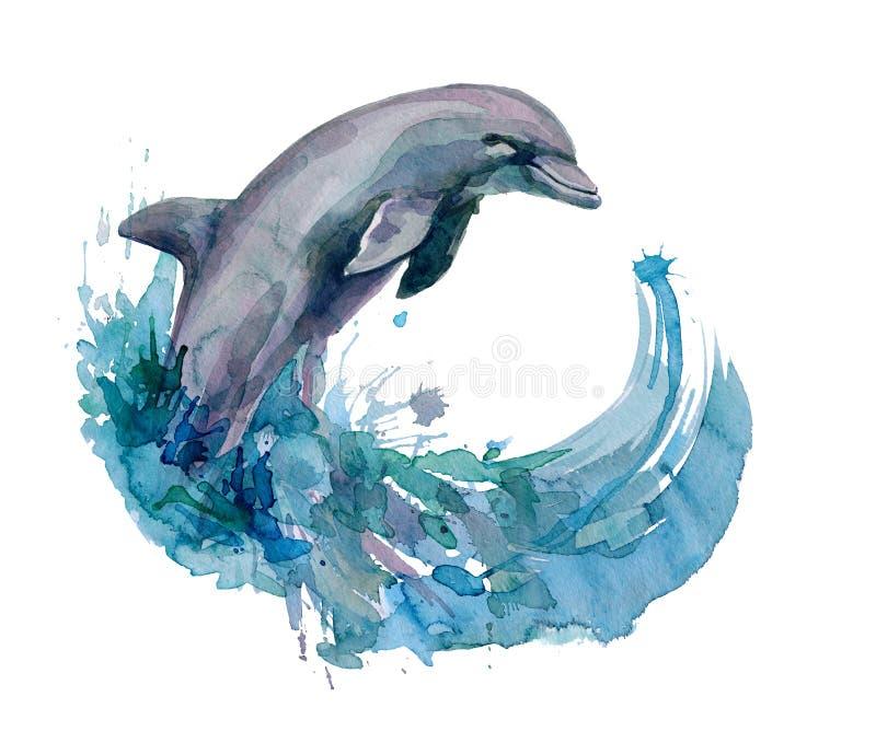 dolfijn stock illustratie