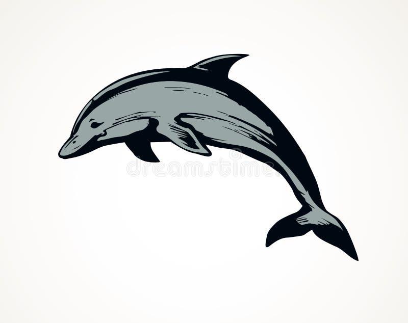 dolfijn Vector tekening vector illustratie
