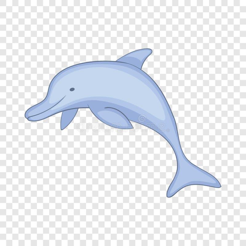 Dolfijnpictogram, beeldverhaalstijl stock illustratie