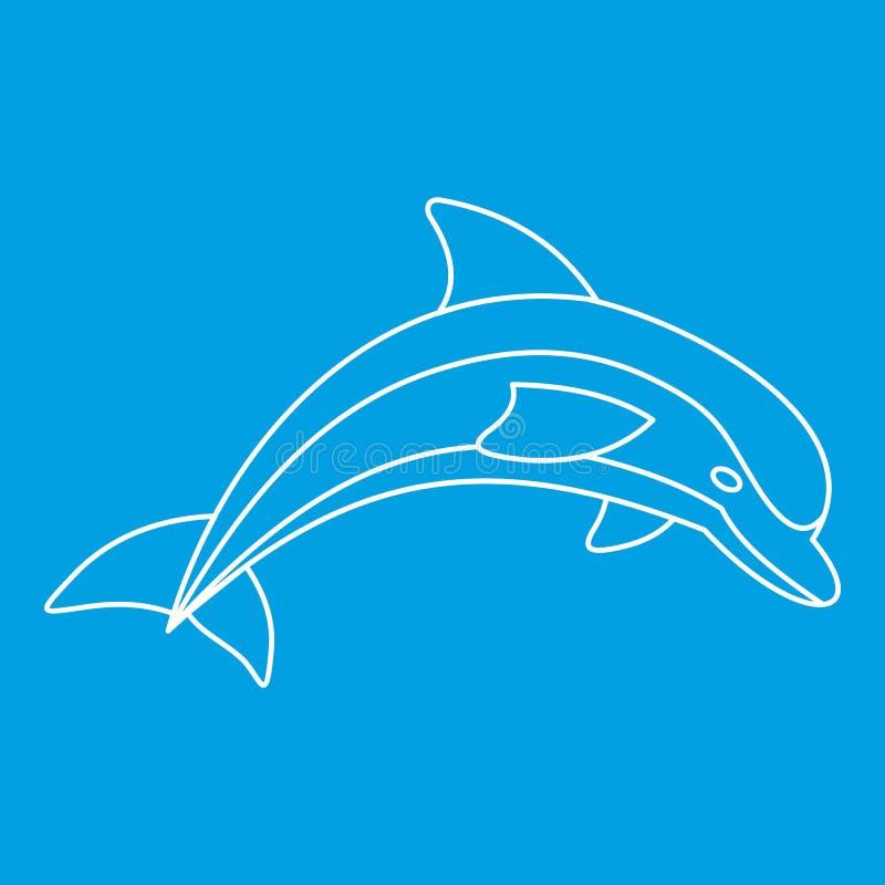 Dolfijnpictogram, overzichtsstijl royalty-vrije illustratie