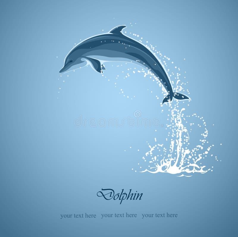 Dolfijnsprongen royalty-vrije illustratie
