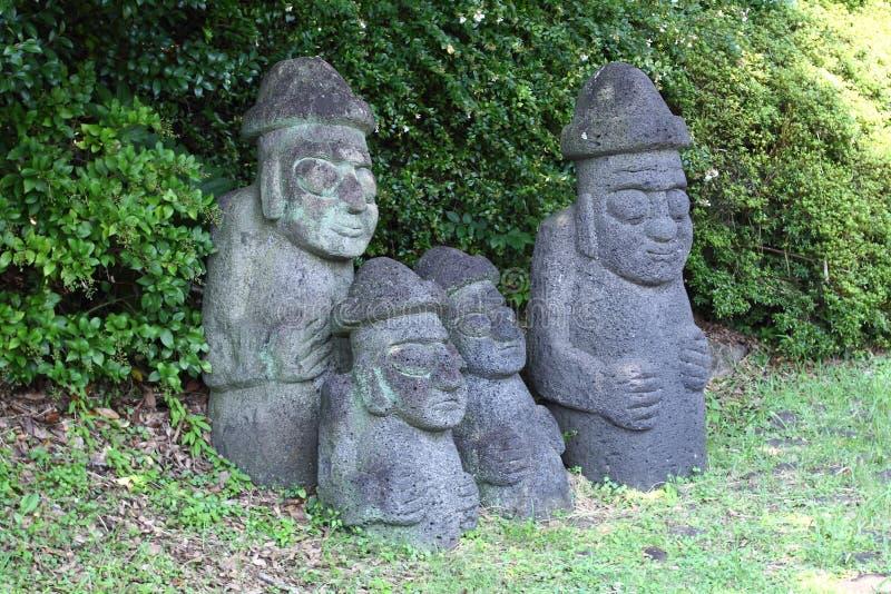 Dolharubang stone grandfather stock image